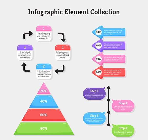 彩色信息图设计