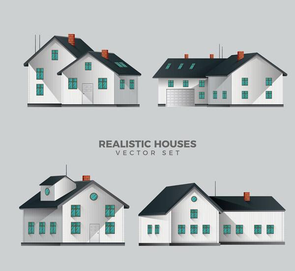 素材分类: 矢量建筑景观所需点数: 0 点 关键词: 4款立体房屋设计矢量
