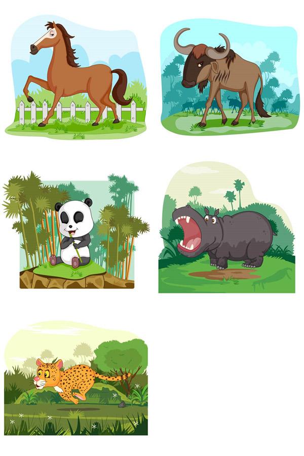 卡通动物矢量