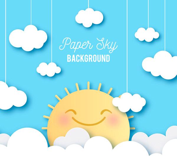 0 点 关键词: 可爱云朵中的微笑太阳剪贴画矢量图天空,可爱,云朵
