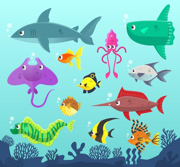 海洋动物矢量