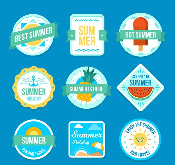 纸质夏季标签