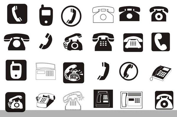 各种电话标志_素材中国sccnn.com