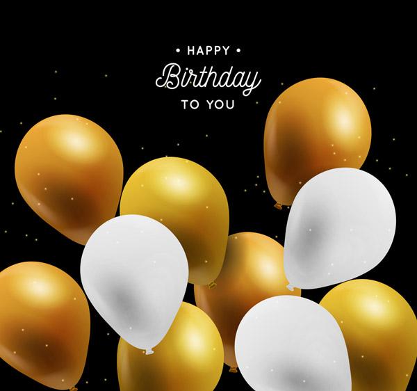 生日气球矢量