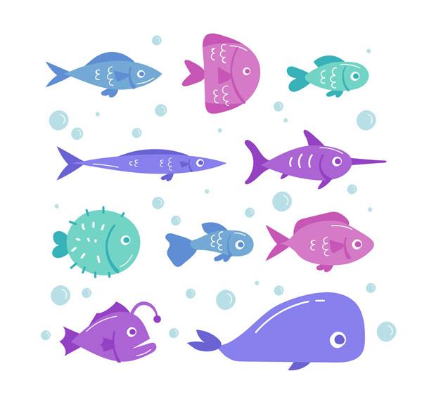 10款彩色海洋鱼类