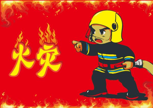 消防员来森林救火的画_森林消防员图片