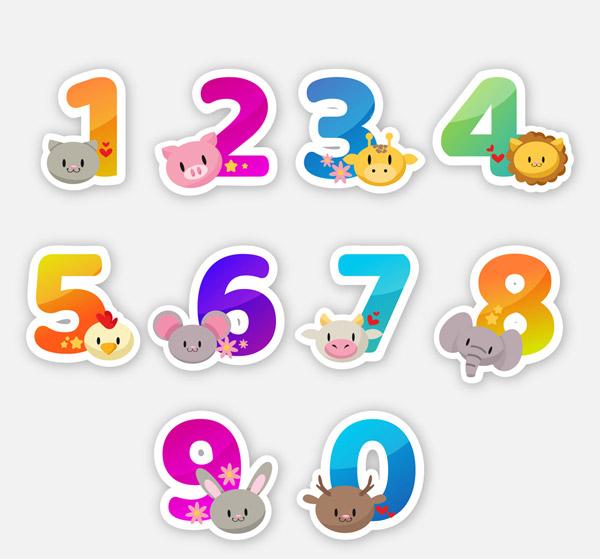 动物头像装饰数字