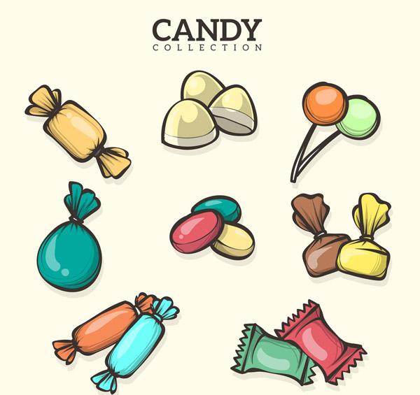 8款手绘糖果