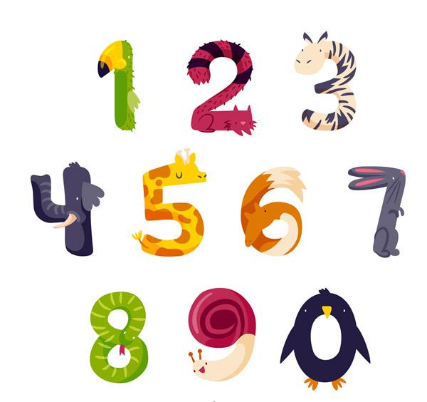 10款创意动物数字