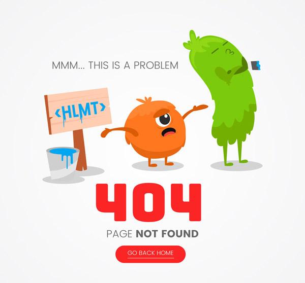 可爱怪兽404错误页
