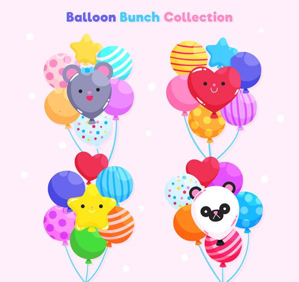 节日气球束