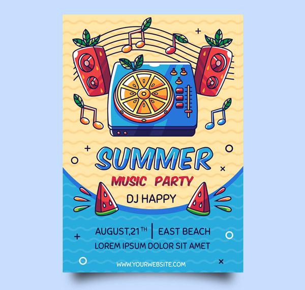 夏季音乐节派对