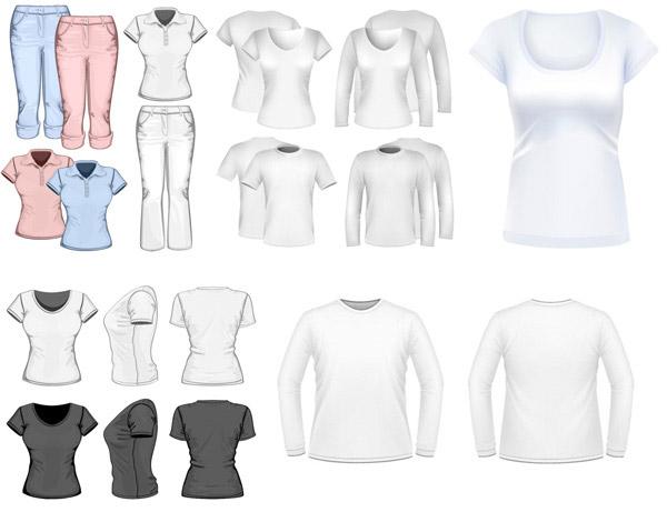 立体,3d,上衣,裤子,打底衫,半袖,短袖,t恤,矢量素材,eps格式 下载文件图片