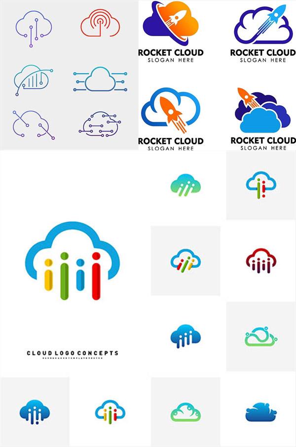 云朵与小火箭标志