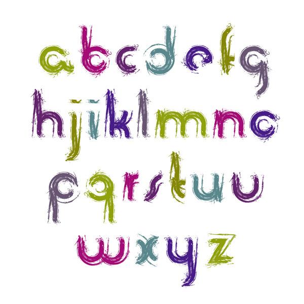 笔刷风格字母