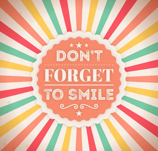 记得要微笑艺术字