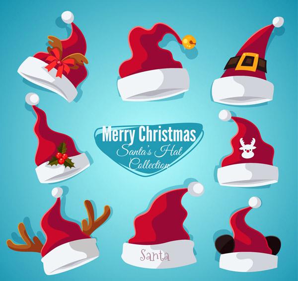 深红色圣诞帽