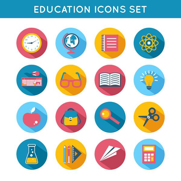 彩色教育元素图标