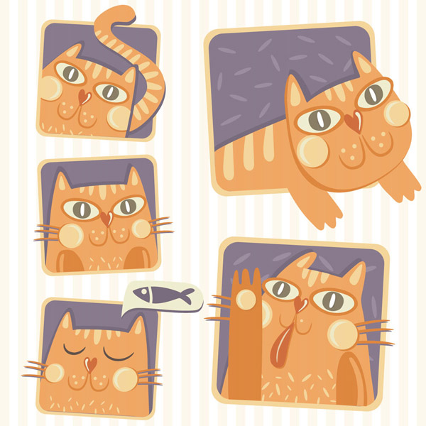 5款彩绘猫咪
