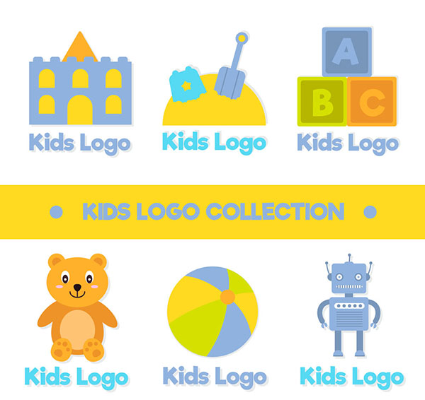 儿童商务标志矢量