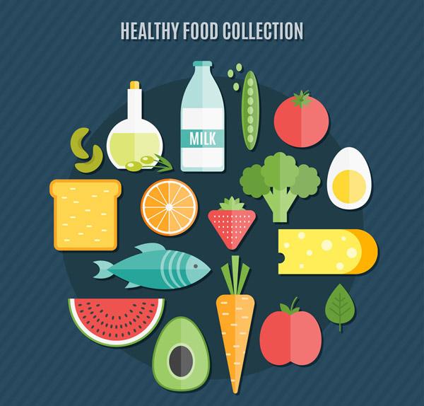 健康食物矢量