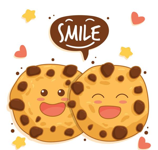 可爱笑脸曲奇情侣