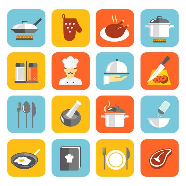 厨房元素图标