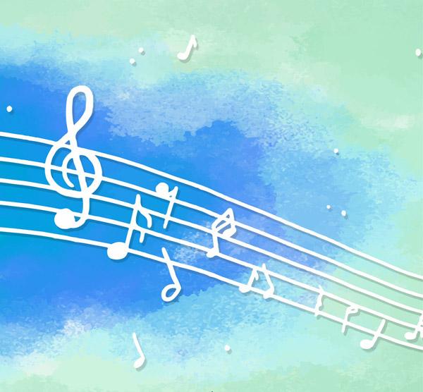 白色乐谱音符