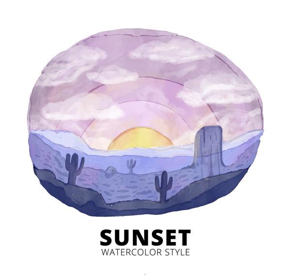 沙漠日出风景