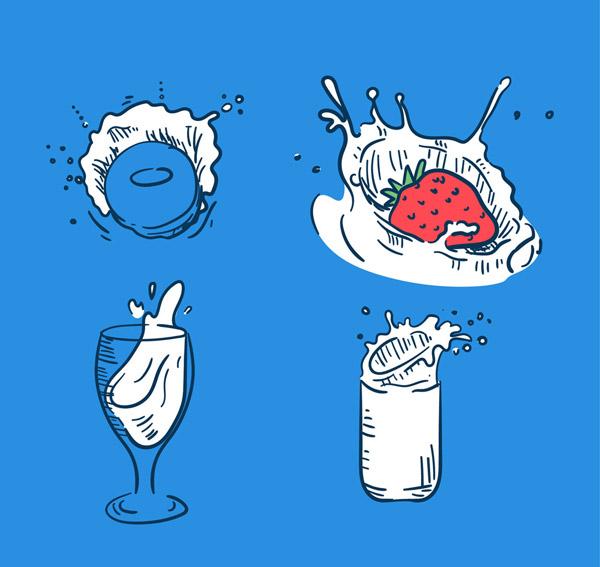 彩绘动感牛奶