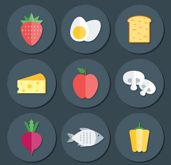 圆形食物图标