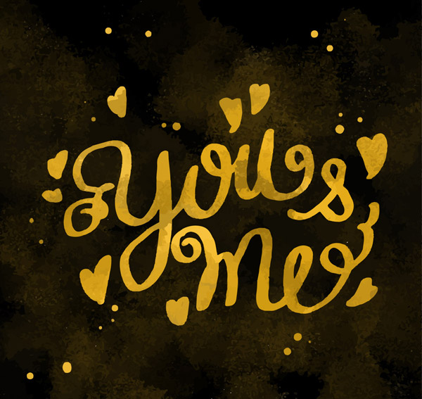 金色你和我艺术字