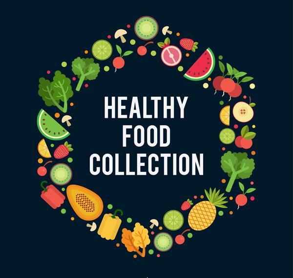 健康食物组合圆环
