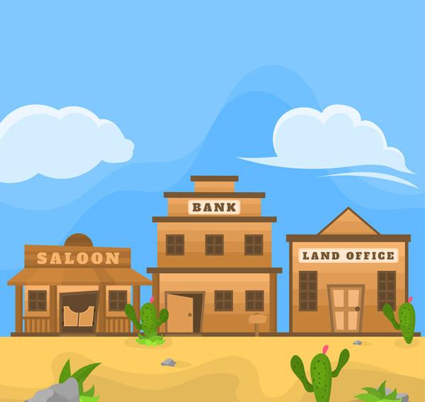 美国西部商铺风景