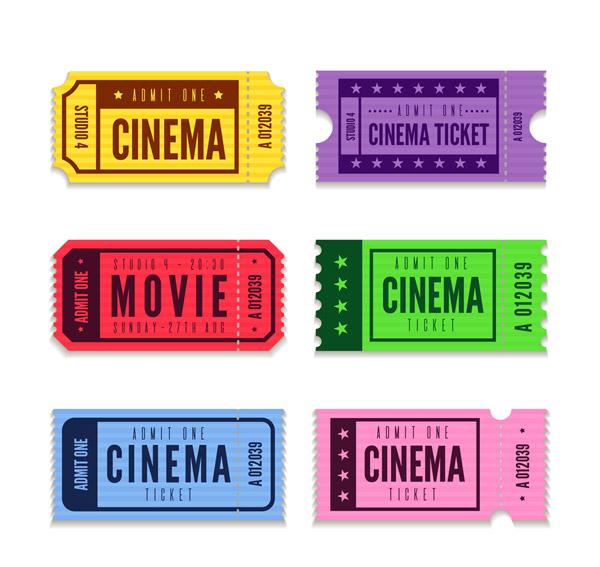 6款彩色电影票