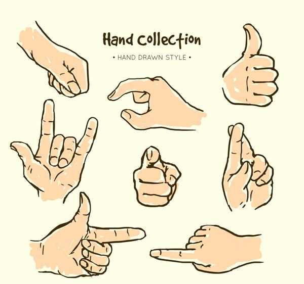 彩绘手势设计