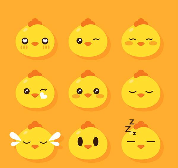 可爱小鸡表情头像