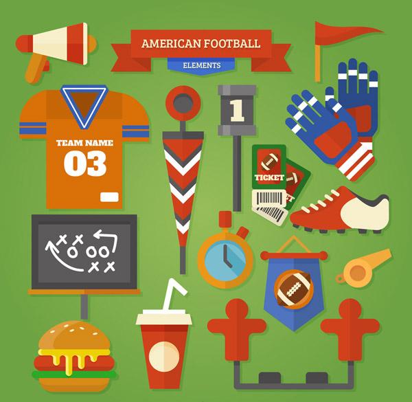 美式足球元素