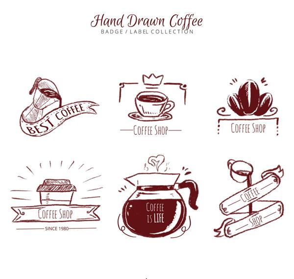 咖啡徽章和标签_单