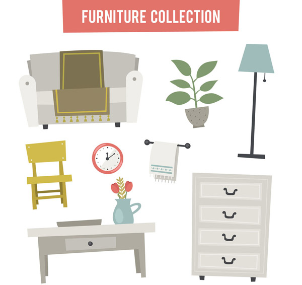 素雅家具和摆件