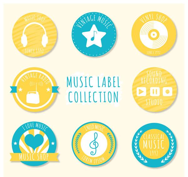 圆形音乐标签