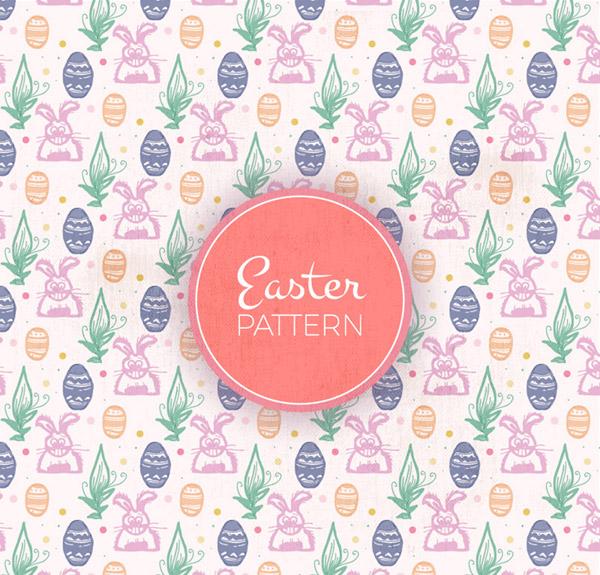 兔子和彩蛋背景