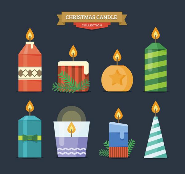 圣诞节花纹蜡烛|圣