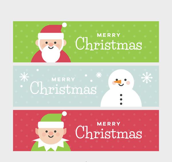 圣诞节元素banner