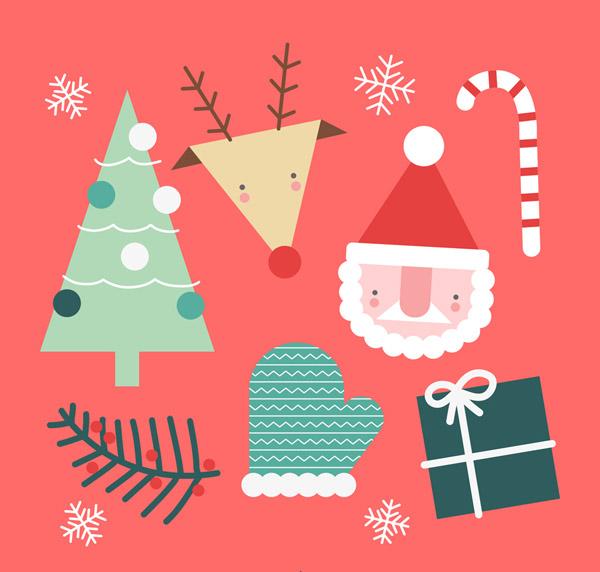 可爱圣诞节元素