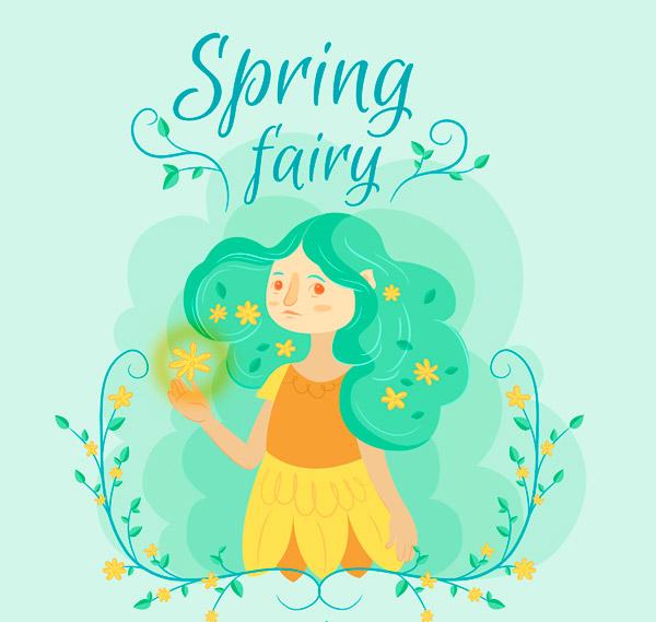 彩绘春季精灵