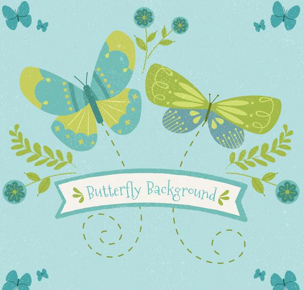 2只彩绘蝴蝶