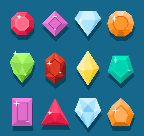 彩色钻石图标