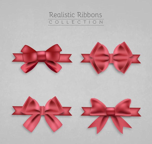 精美红色蝴蝶结丝带