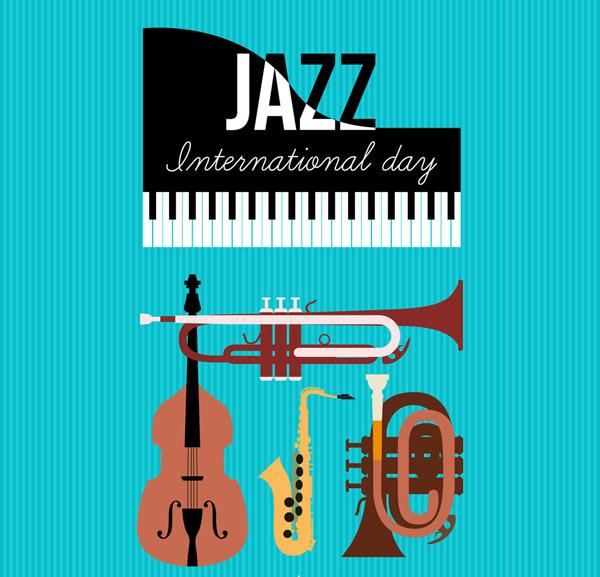 国际爵士乐日贺卡: